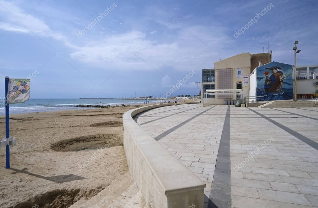Italy, Sicily, Mediterranean sea, Marina di Ragusa (Ragusa Province); 12 October 2018, view of the seafront - EDITORIAL