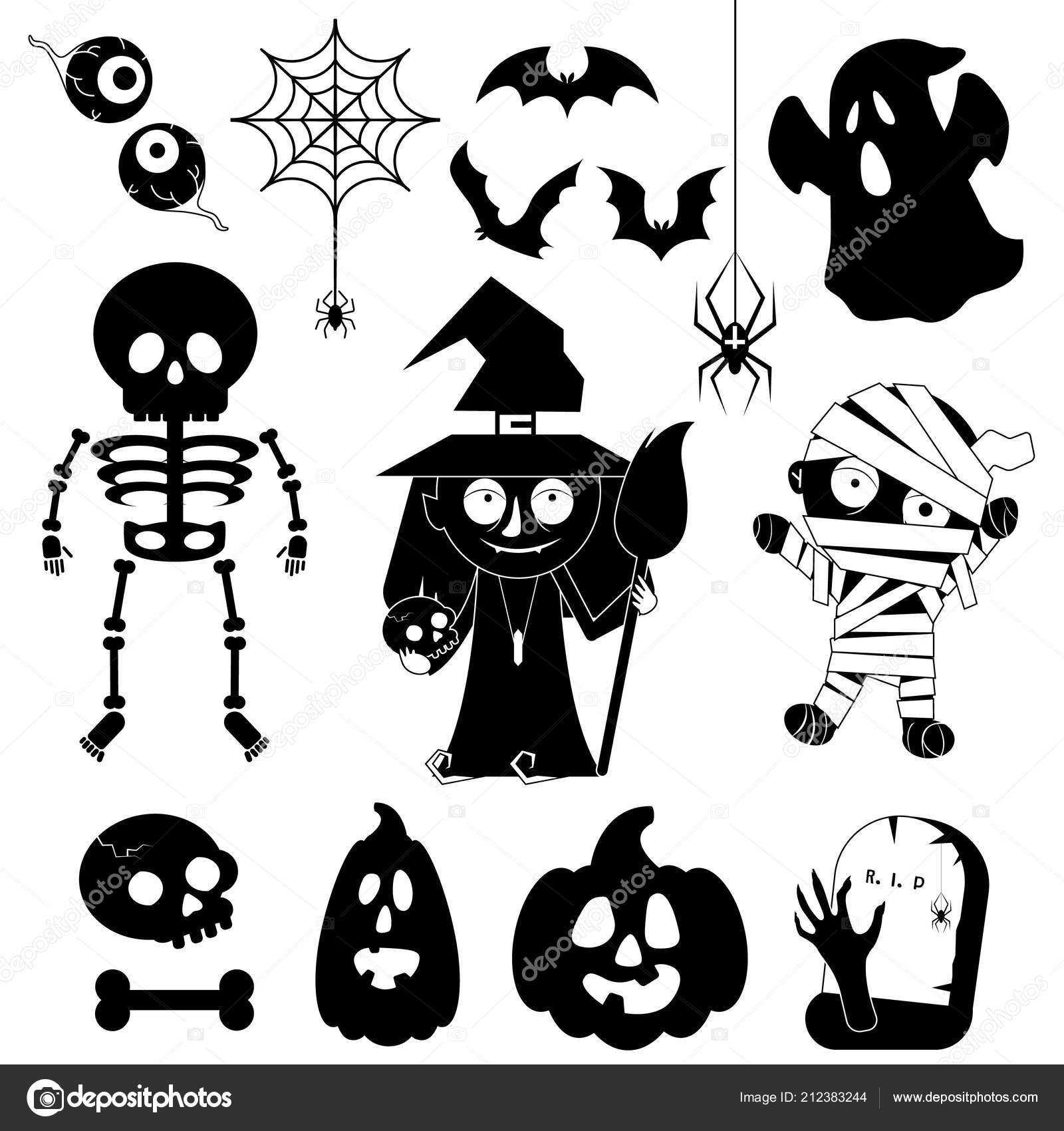 Personnages De Dessins Animés Pour Halloween Image