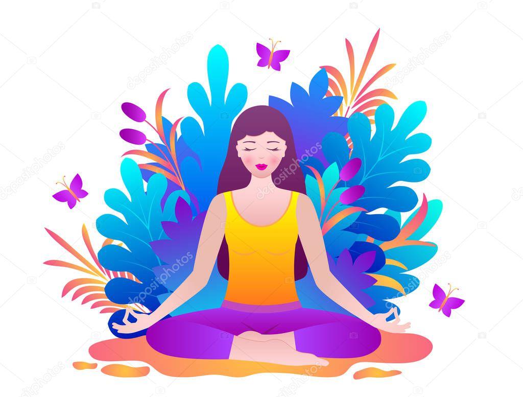 Young woman meditates