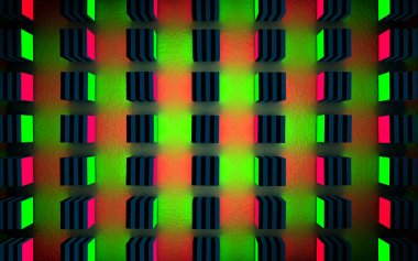 Grid or display abstract background.Technology and electronic.Led and glowing lights.3d illustration