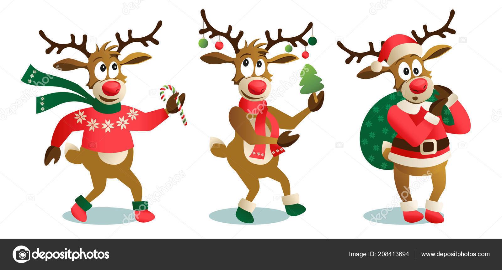 Immagini Carine Natale.Illustrazione Renne Carine Renne Natale Carine Divertente