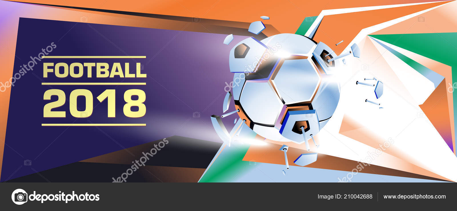 af6c8dcd5 Bandeira de futebol e futebol digital web e cartaz. Modelo de design e  plano de fundo para notícias e esportes — Vetor de ...