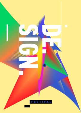 Vector of Triangle Geometric  forms. Abstract Modern Backgrounds for Design Festival Poster. Message Presentations or Identity Layouts. Graphic Template and ideas.