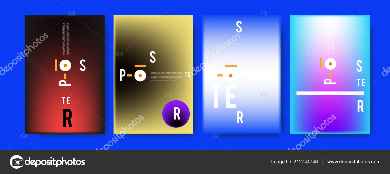 Abstract Colorful Collage Poster Design Template Cool Geometric
