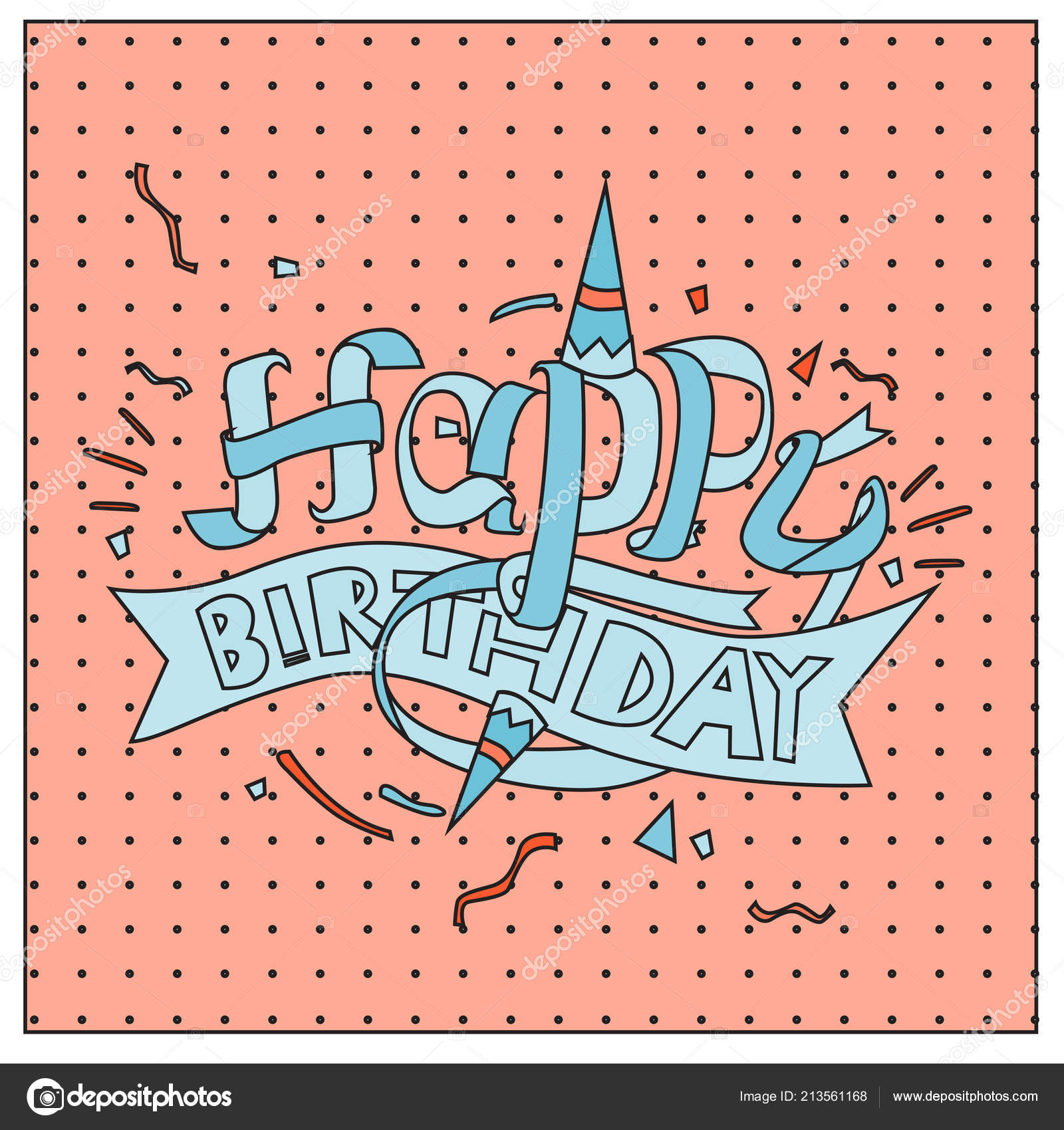 Happy Birthday Typography Vector Design Greeting Cards Poster