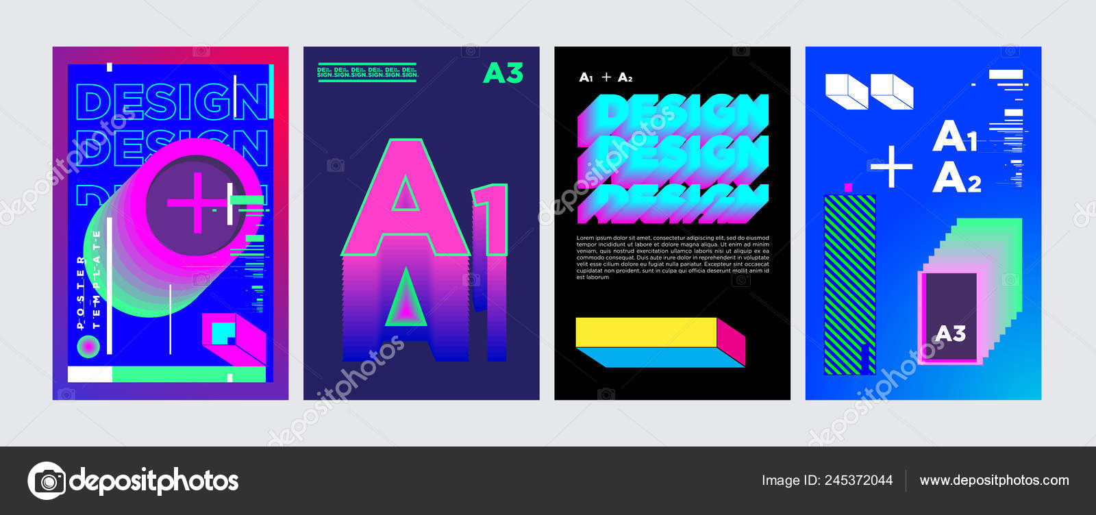 Cover Poster Design Template Magazine Trendy Vector Typography
