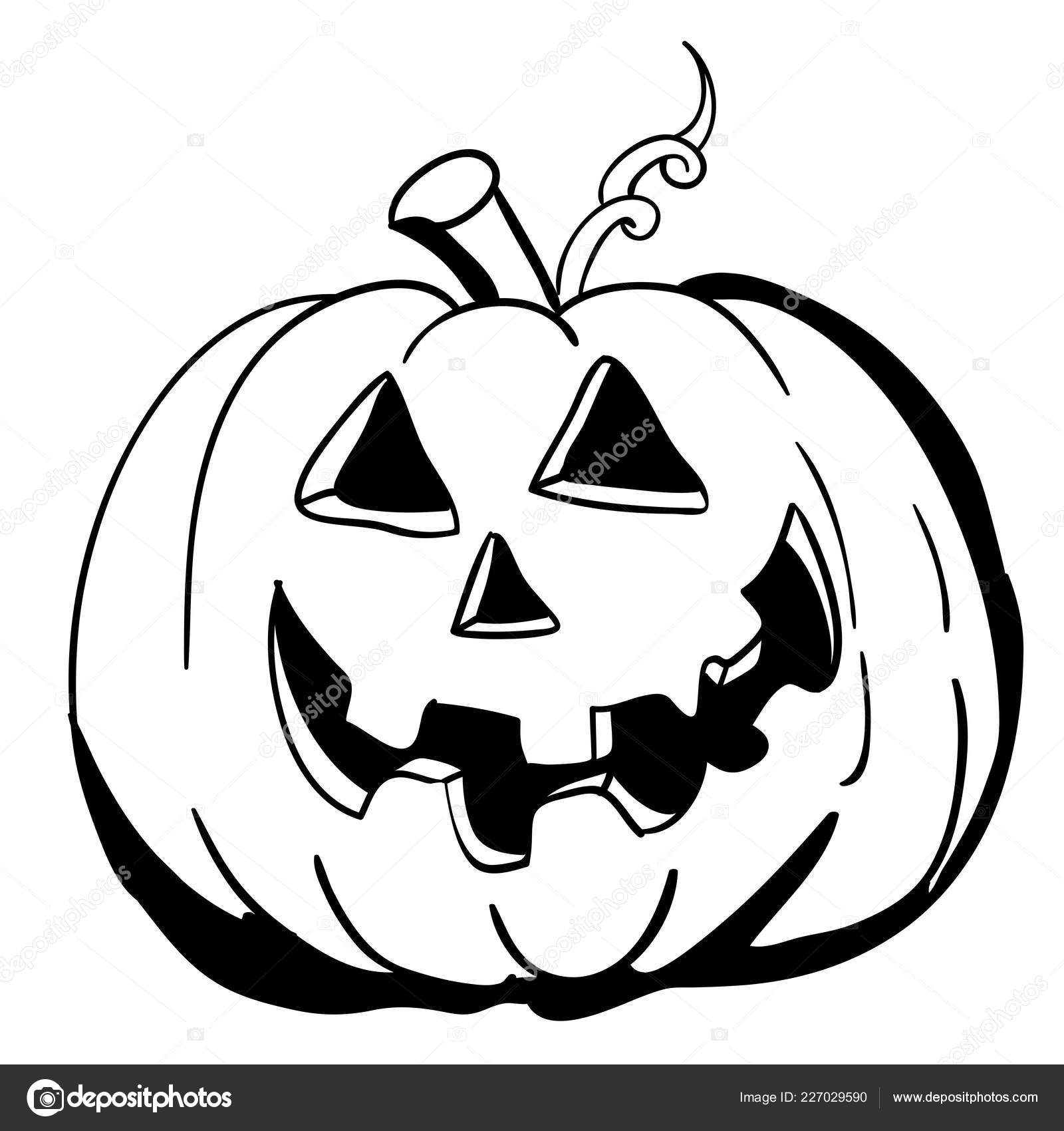 Pumpkin cartoon black and white | Black White Halloween ... |Cartoon Black And White Pumkin