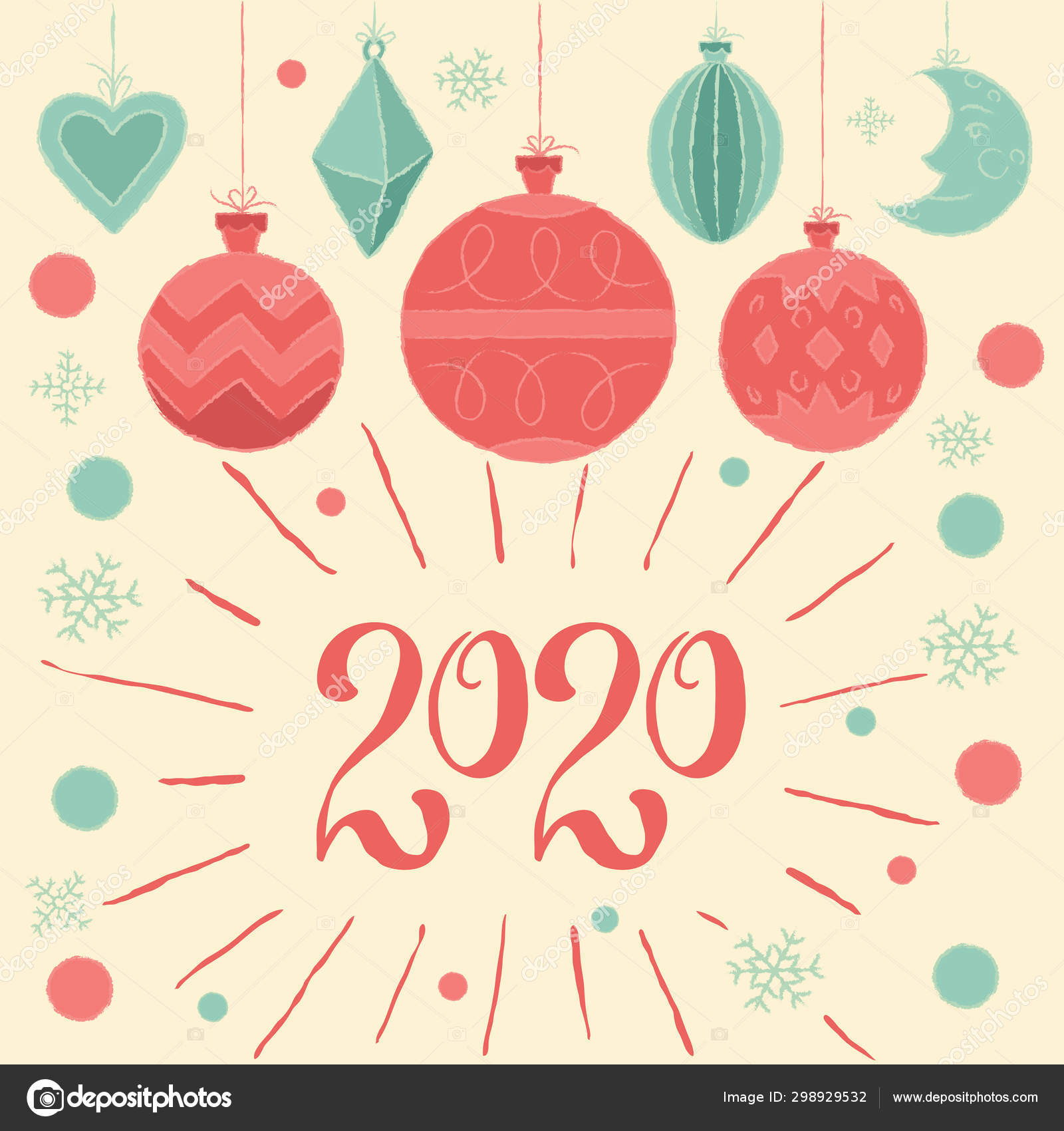 2020 Merry Christmas Happy New Year Greeting Card ...