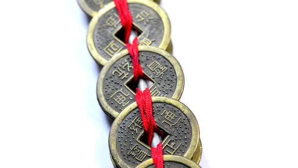 Čínské Feng Shui mince na točny