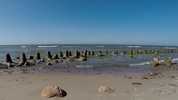 am Strand von Orzechowo, Ostsee, Polen