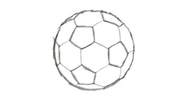 fotbal fotbal, abstraktní tužka set