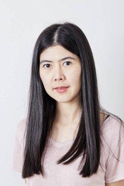 Portrait Beautiful Young Casual Asian Woman