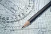 rajz, szögmérő, ceruza