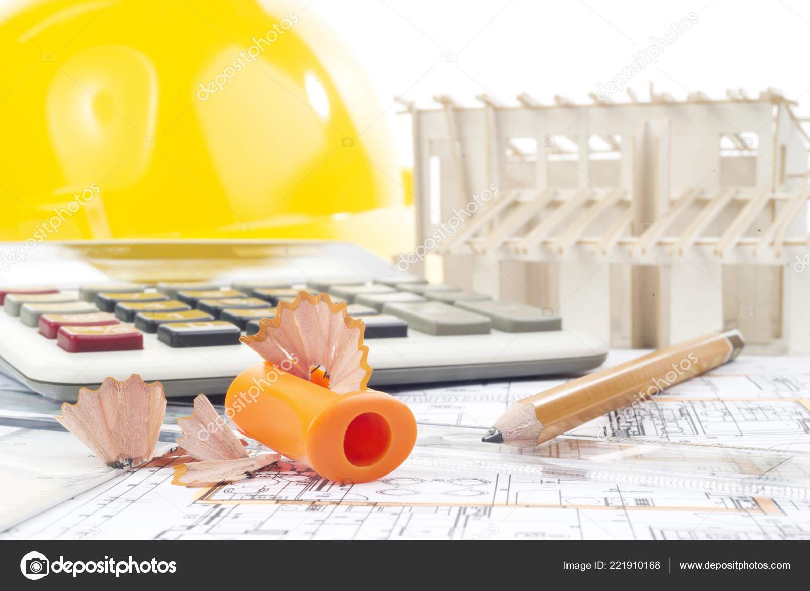3792ca73e Proyecto Arquitectónico Lápices Sacapuntas Calculadora Modelo Casco ...