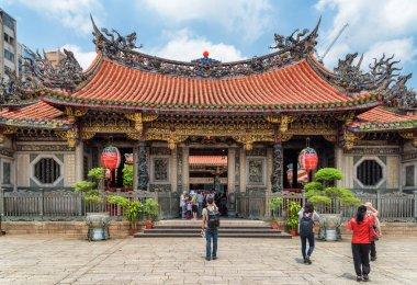 Main entrance of Mengjia Longshan Temple in Taipei, Taiwan