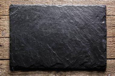 Black slate texture closeup