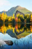 Strbske jezero v době podzimu