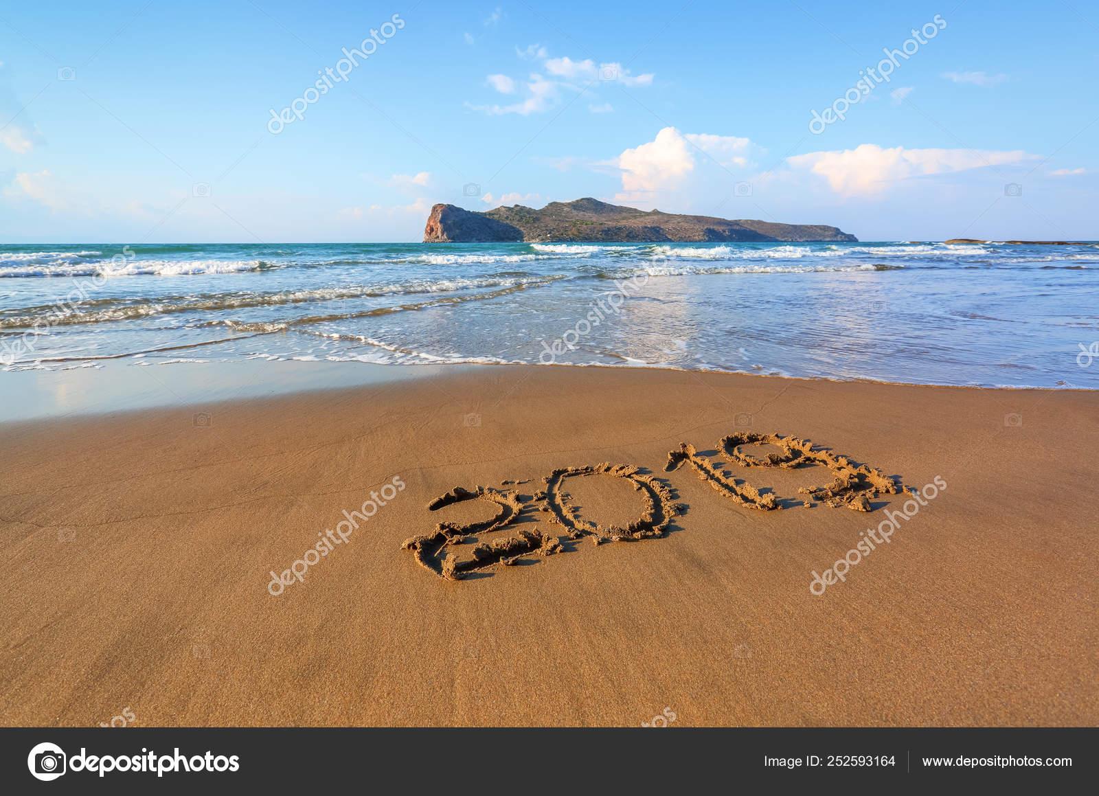 Famous Resort Of Crete Island Greece Sand Beach Seascape