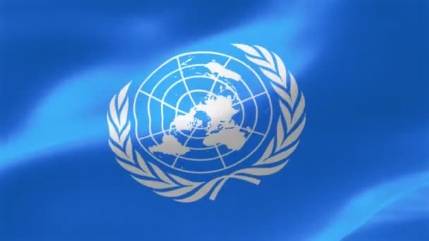 The flag of the United Nations consists of the official emblem of the United Nations in white on a blue background.