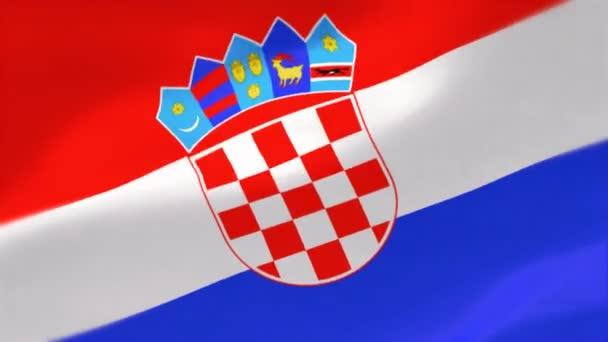 4k Highly Detailed flag of Croatia