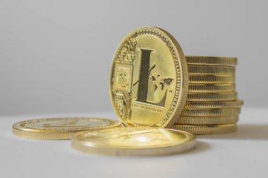Litecoin - hafif arka planda lite coin Ltc kriptopara