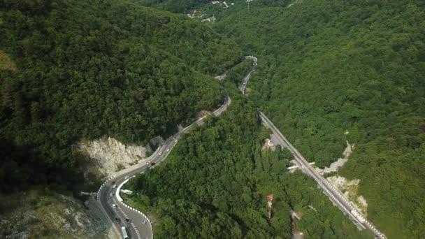 Pohled na dráty s okem-vyhlídková horská cesta
