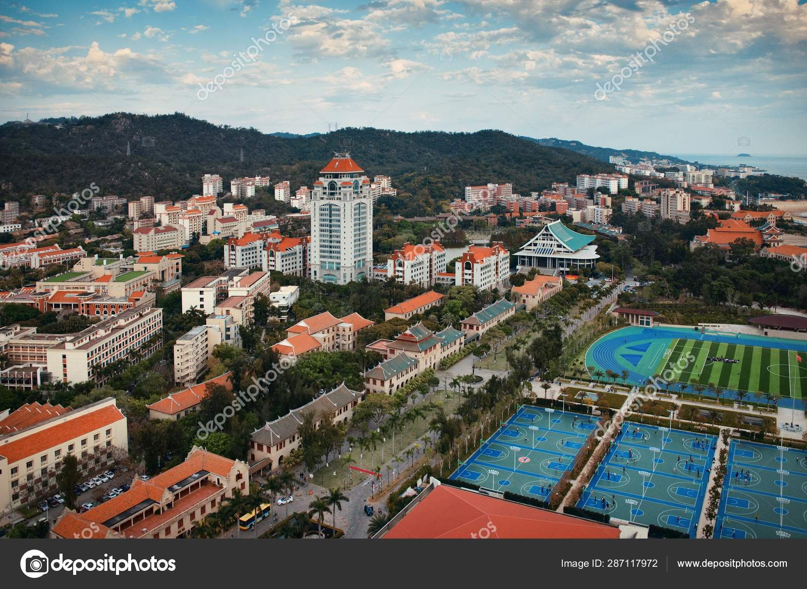 Xiamen Vista Aerea Da Universidade Fotos Imagens De C Rabbit75 Dep 287117972