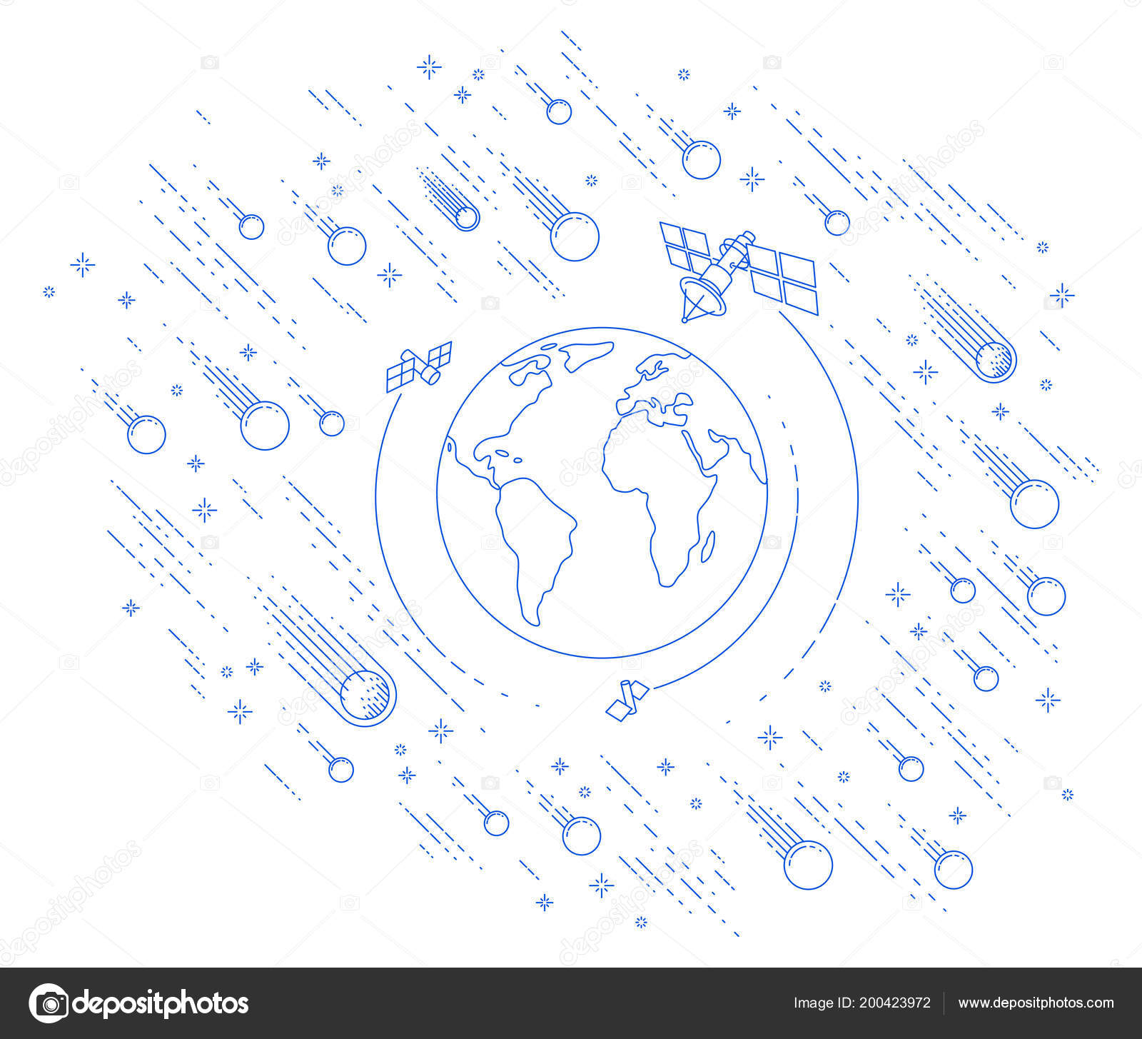 small earth endless space surrounded artificial satellites stars Ear Anatomy Diagram small earth endless space surrounded artificial satellites stars other elements \u2014 stock vector
