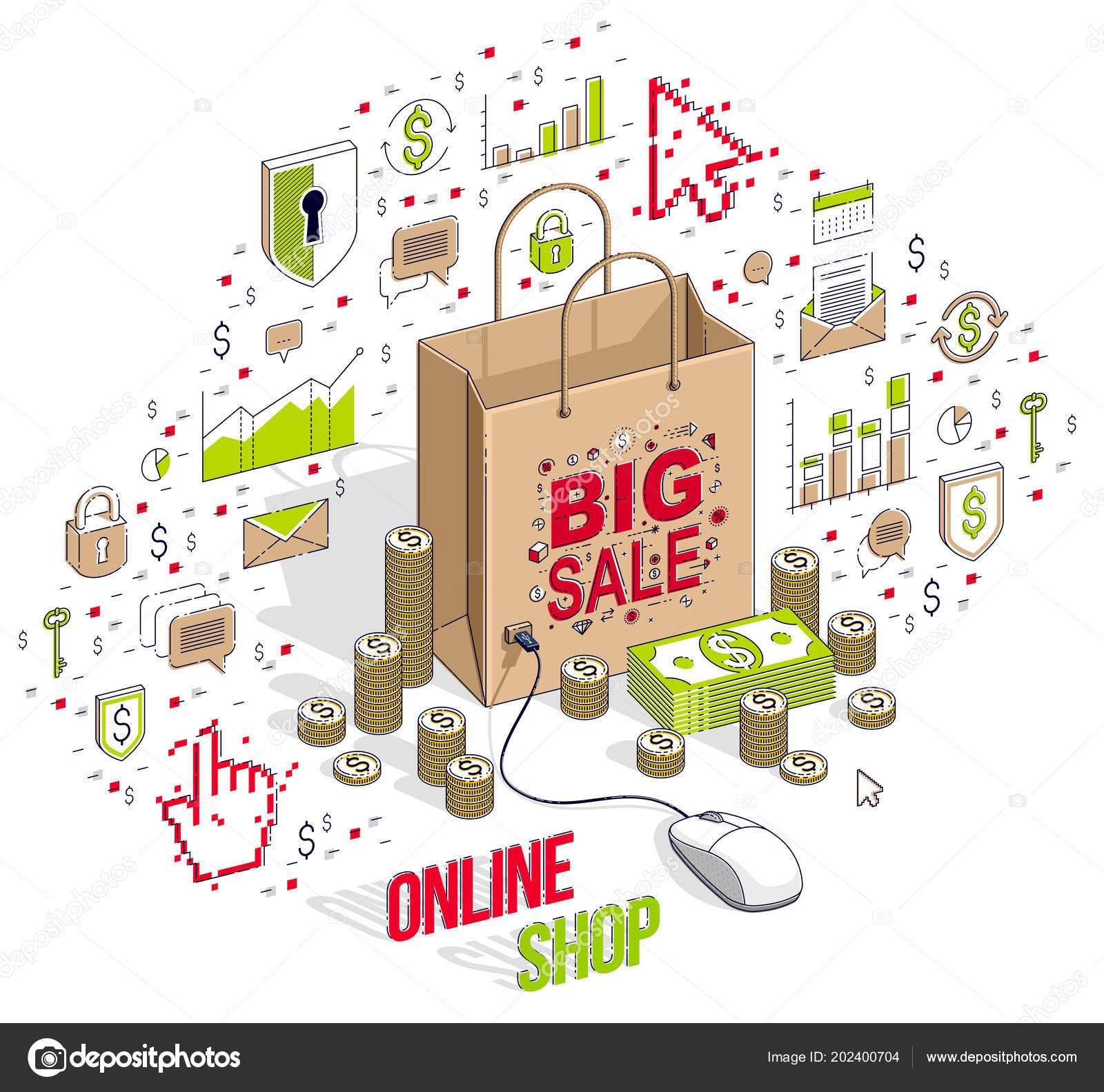 ba1bd24dd4ed Online Κατάστημα Έννοια Ηλεκτρονικό Κατάστημα Πωλήσεις Μέσω ...