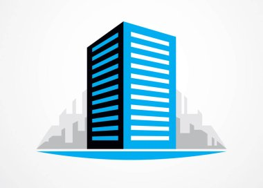 Business building, modern architecture vector illustration.