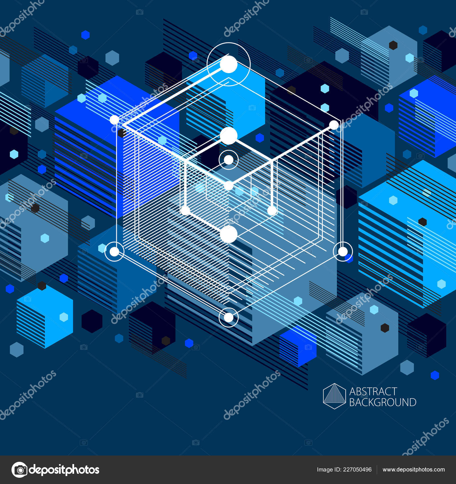 Vector Blue Tech Wallpaper Geometric Technology Vector