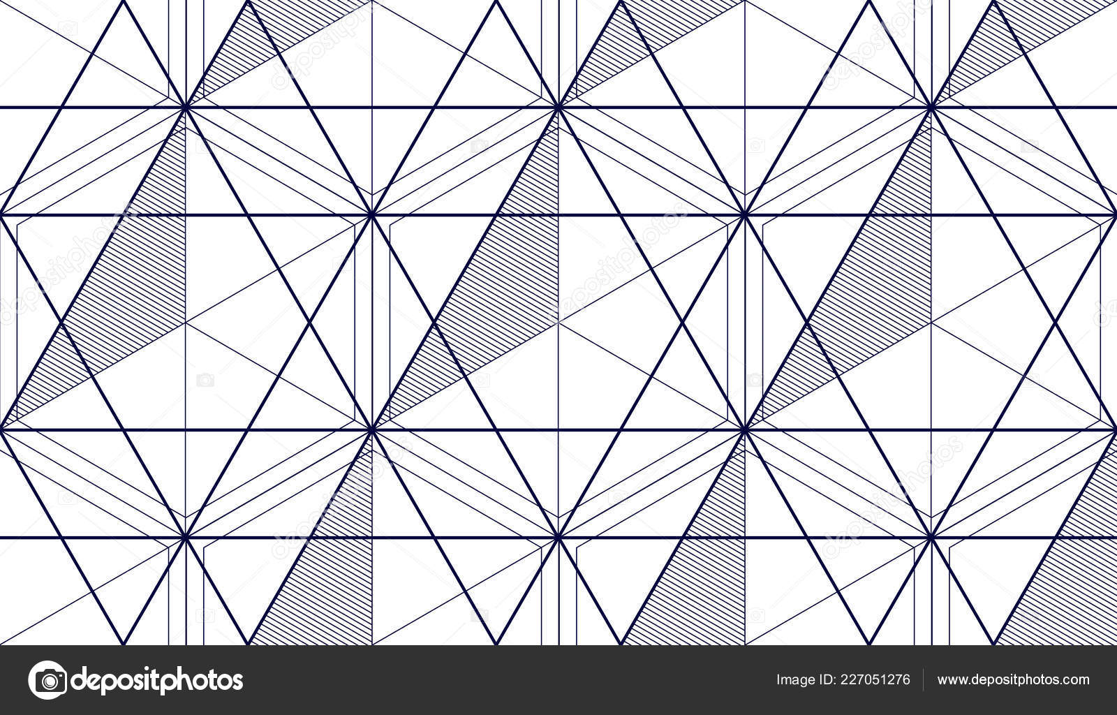 Geometric Lines Abstract Seamless Pattern Vector Background