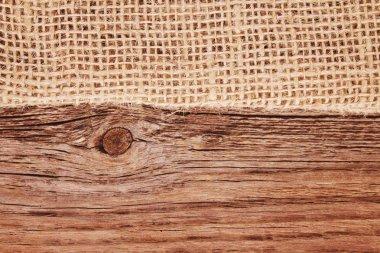 Closeup of a burlap texture background