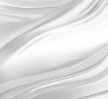 Closeup of rippled white silk fabric stock vector