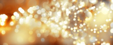 Golden Christmas abstract blurs background