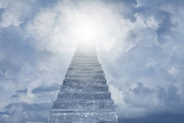 Stairway leading up to sky. Stairway to heaven