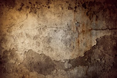 Closeup of grunge brown textured background