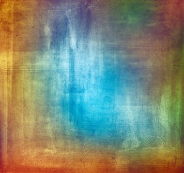 Colorful grungy textured wall background