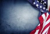 Amerikai zászló kék háttér