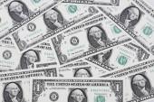 Fotografie Detailní záběr bankovek v amerických dolarech