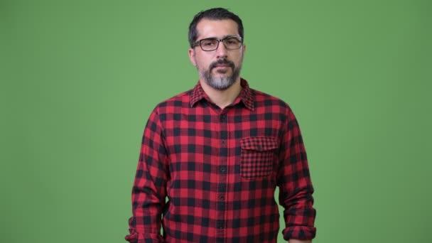 Handsome Persian bearded man eyeglasses