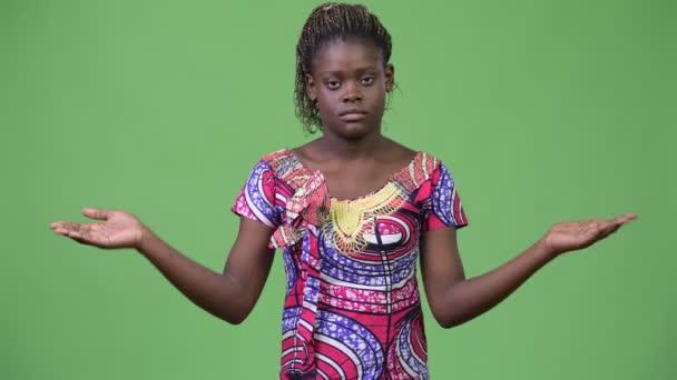 Fiatal afrikai nő összehasonlítása