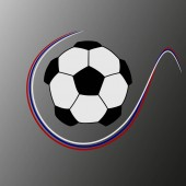 Soccer ball with the colors of Russia, soccer comcetition concept