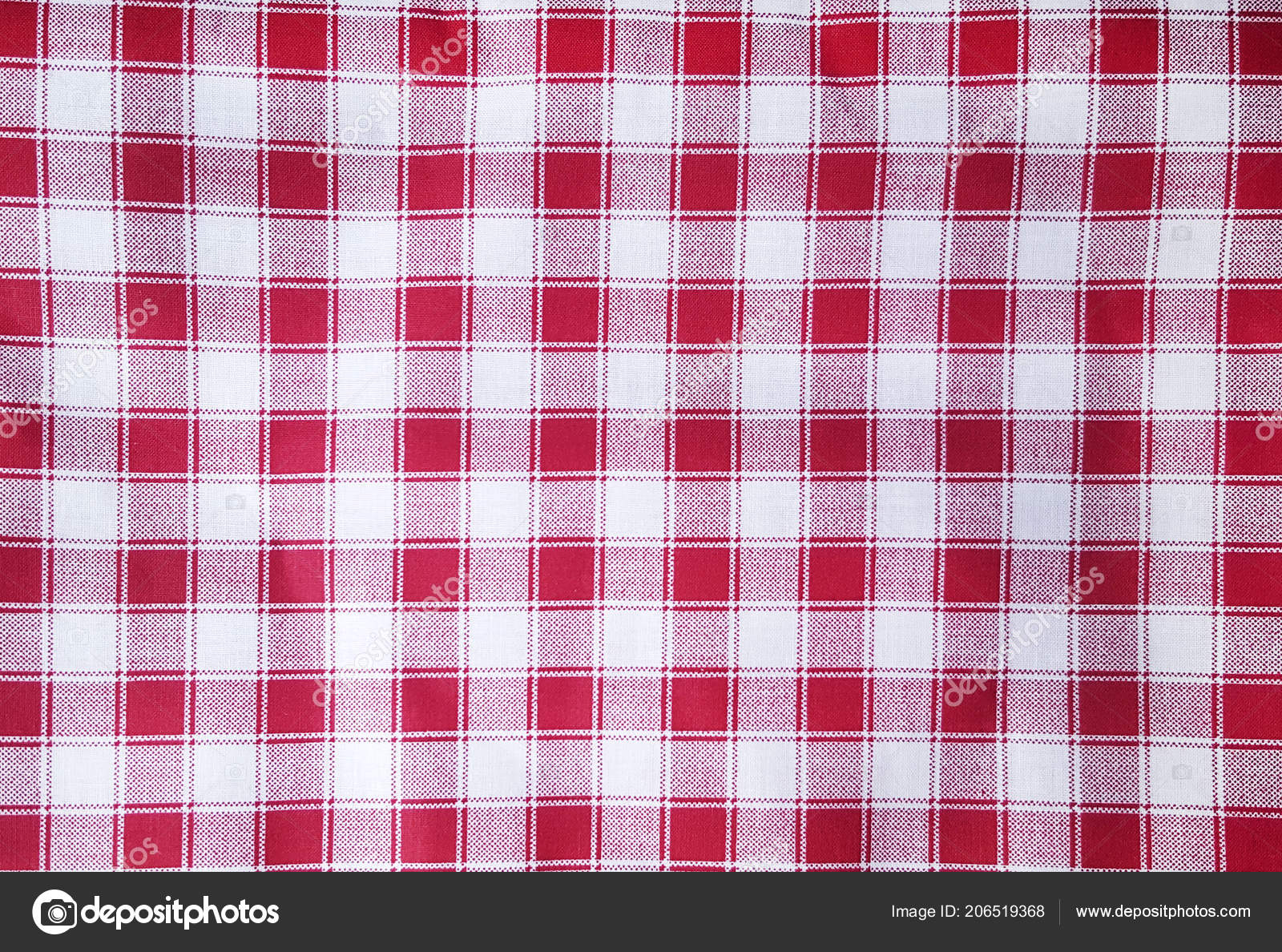 Red White Gingham Tablecloth Texture Background U2014 Stock Photo