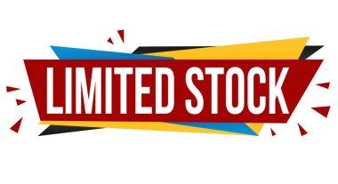 Limited stock banner design on white background, vector illustration