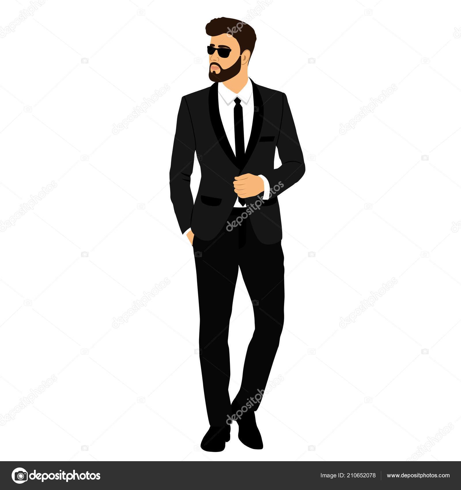 El novio. Caballero. Hombre de negocios. Ropa. Boda hombre traje de  esmoquin. Ilustración de vector — Vector de pyshustik210905.gmail.com 864479ef255