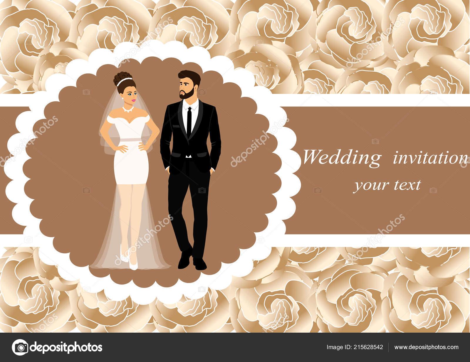 invitation card bride groom floral background bride groom wedding