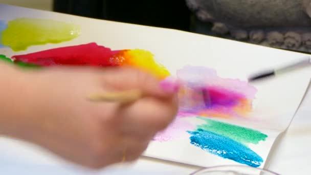 Mischen von Farben um den gewünschten Farbton zu erhalten