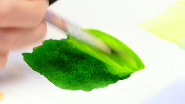 Mischen von Aquarelle um den gewünschten Farbton zu erhalten