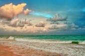 Bella vista della spiaggia tropicale sul mare caraibico